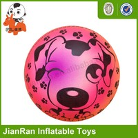 PVC cartoon ball, colorful toys rehearsal ball , Inflatable rainbow ball