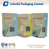 250g kraft paper dry fruit doypack stand up cashew kraft paper pouch paper bag kraft food grade