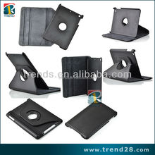 360 degree rotation pu+pc leather case for ipad mini