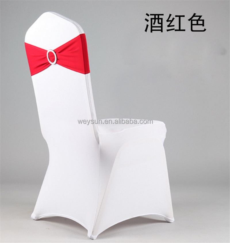 Spandex chair band with buckle/ spandex sash/chair sash for chair cover