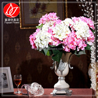 140510 factory direct sale Design Cheapest artificial hydrangea rose flower artificial wedding car decoration