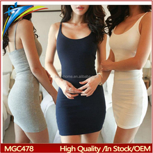 Fashion Women Sexy Backless Basic Dresses Sleeveless Slim Vestidos lady bodycon sundress