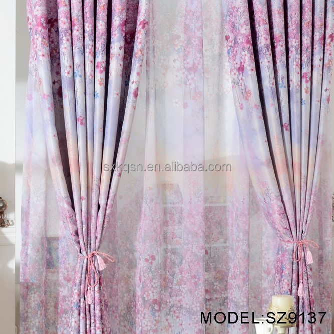High tenacity tulle lace fabric curtains for living room