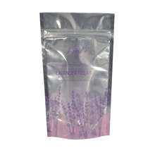 custom printed clear front foil back food stand up pouch packaging ziplock bag