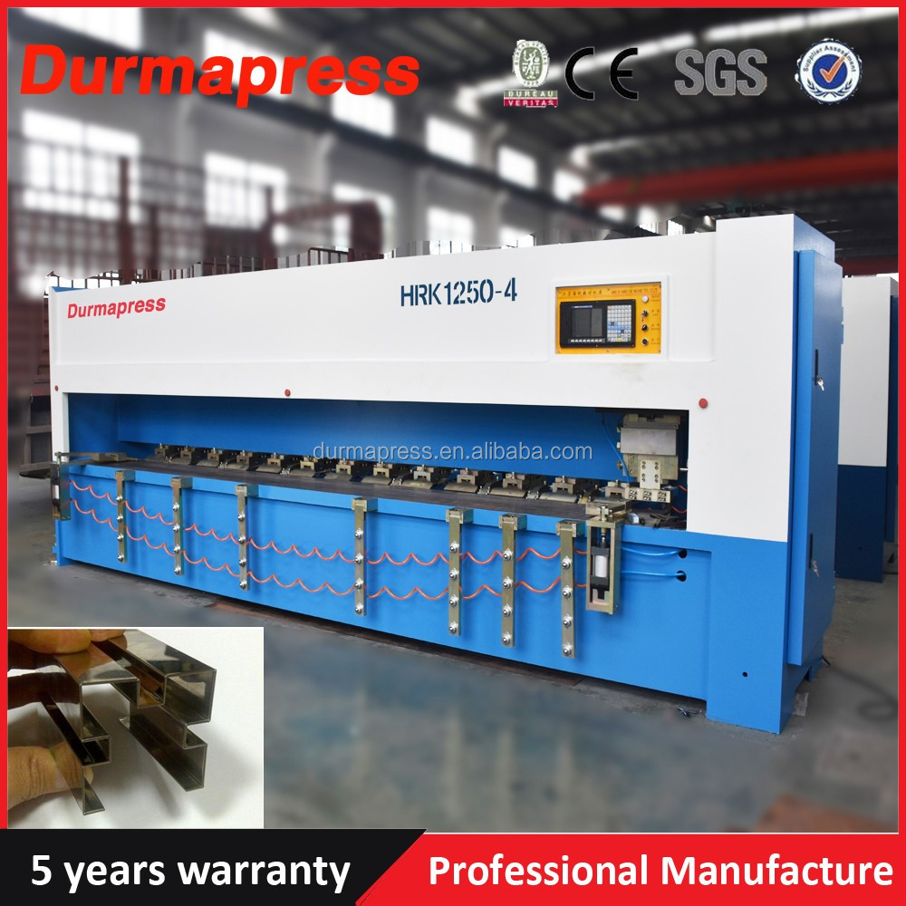 4*6000mm stainless steel cnc sheet metal grooving machine, V piercing machine for cabients doors, Elevator