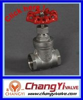 stainless steel manual gate valve with thread,GB standard