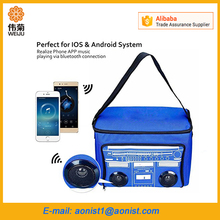 waterproof wireless cooler bag with radio,mp3 speaker Cooler Bag with speaker
