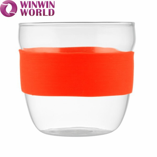 Promotional Christmas Gift Silicone Sleeve Drinking Glass