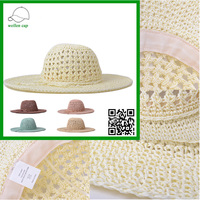 sunshade fishion man and women paper straw hat summer folding straw cowboy hat for sale