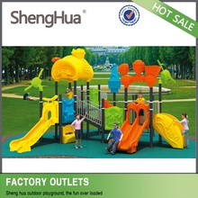 Safe and fun school exercise equipment plastic slide playground kids outdoor