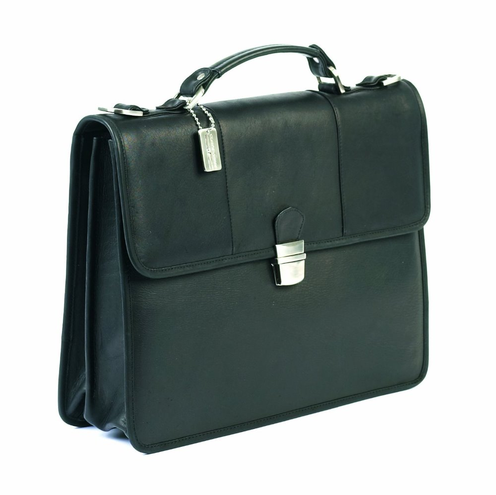 Custom trendy briefcase and wholesale business mens genuine leather briefcase