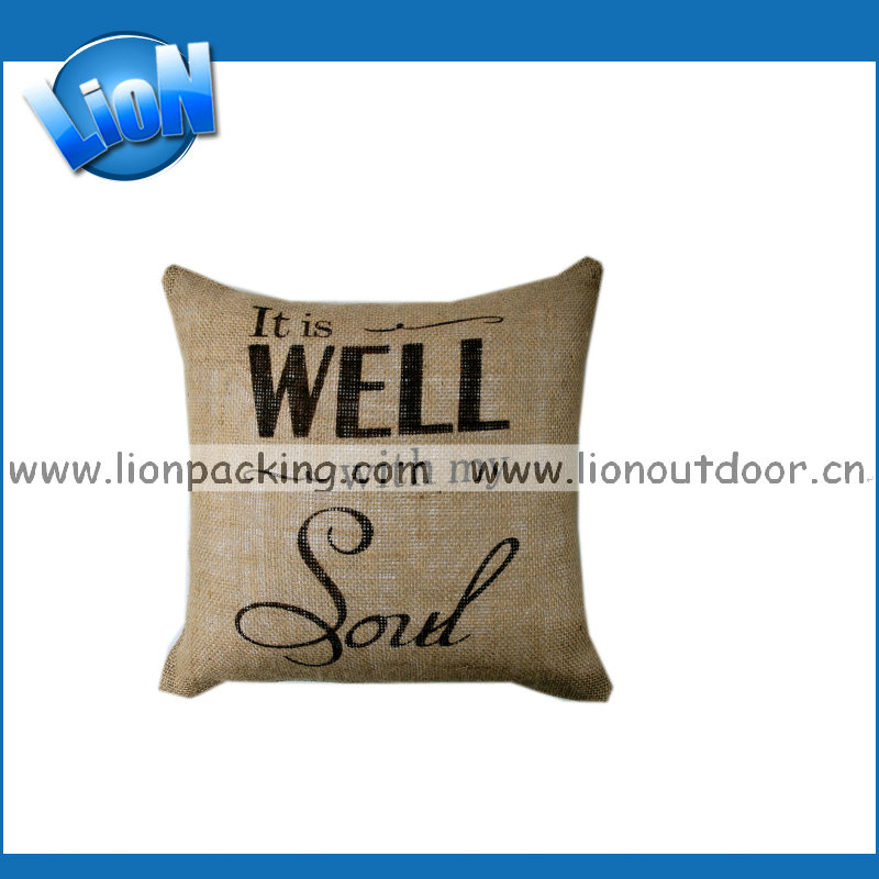 Christmas Decor Wholesale Pillow Covers Custom Design luxury jute Cushion Cover For Office Chair