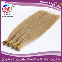 Double Drawn Blonde Russian Nano Ring Wholesale Hair Extension