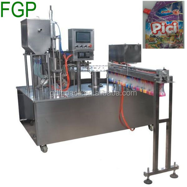 Automatic doypack/stand up spout pouch filling capping machine for Small scale juice packaging in China