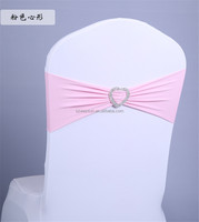 Heart Ornament Elastic Wedding Chair Cover Sashes Sash Party Banquet Decoration Decor Bow Colours
