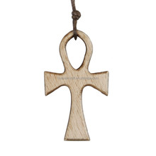 China manufacturer olive wood prayer small wooden cross pendant