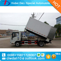 Mini dump refrigerator truck self loading freezer box truck medical waste loading truck 5tons