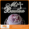 High quality customized monogram Funny wedding rhinestone cake toppers