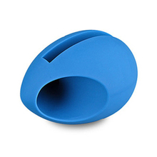 Portable egg shape Silicone Horn Stand Mini Cell Phone Mobile Amplifier loud Speaker