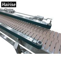 Plastic flat chain plate belt conveyor system