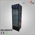 Commercial upright single glass door freezer with light box
