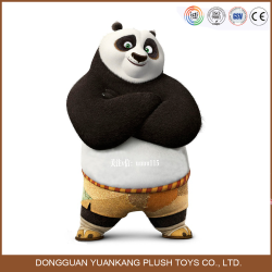 China Giant Standing Animal Stuffed Kung Fu Panda Plush Toy