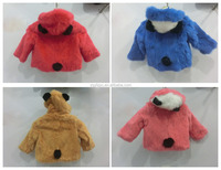 2015 Winter Season Baby Fur Clothes / Beautiful Hooded Lammy Baby Girls Winter Coat