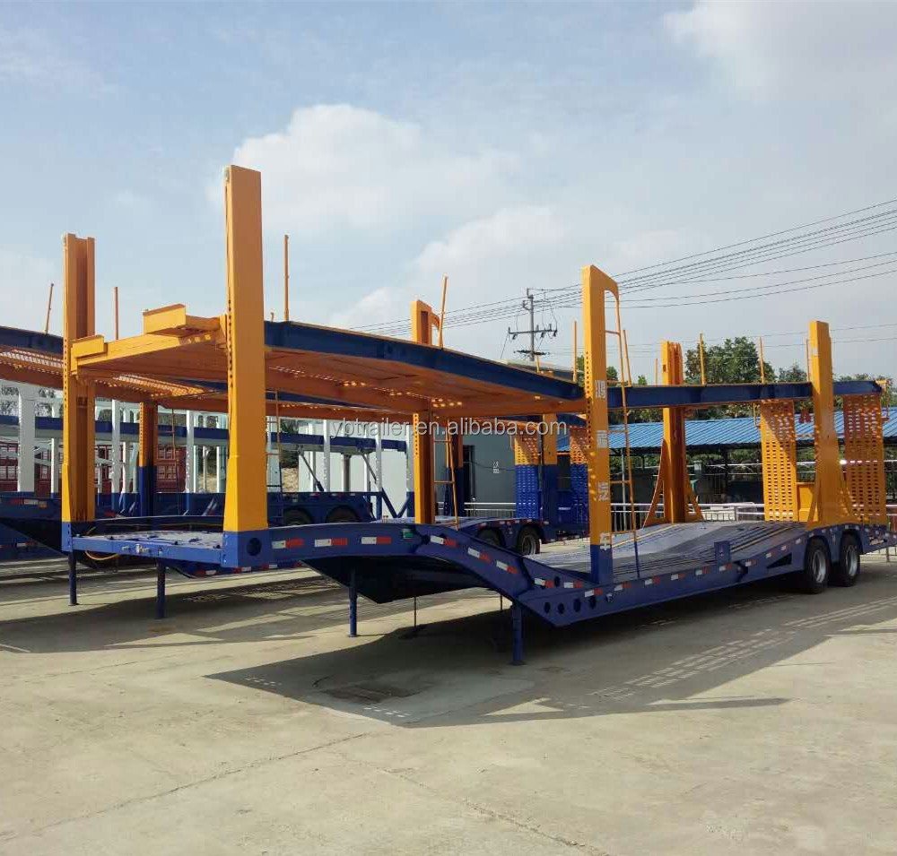 Chinese manufacture heavy duty Hydraulic lifting 3 axles car carrier truck trailers on sale