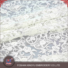 Made in China hot sale and cheaper net embroidery embroidered lace tulle fabric design for bridal