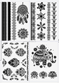 Trendy body transfer fashional black tattoo stickers in creative design