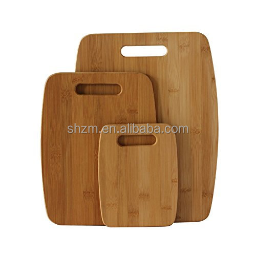 Factory Price Totally Bamboo 3-Piece Bamboo Cutting Board Set For Meat & Veggie Prep, Serve Bread, Crackers & Cheese,FDA,LFGB