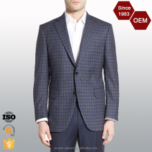 OEM Top Quality Classic Fit Plaid Checked Mens Designer Suit Men Dress Sample