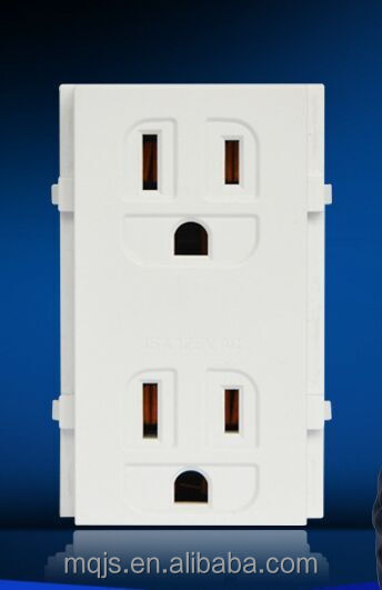 American standard socket Three holes panel/ American switch and socket/Wall socket