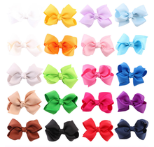 Hot Selling 20 Candy Color Kids Gish Tail Billed Duck Mouth Bow Hair Clip