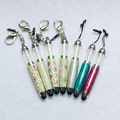 Bling Metal Diamond Crystal Rubber Tip Stylus Mini Touch Screen Pens For Iphone Ipad And All Other Tablet Screen Touch