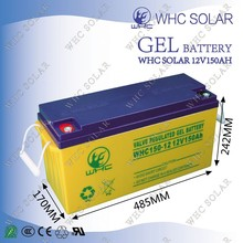 WHC high quality recharge 12V and 24v 150AH truck battery for sale