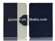 High quality wallet flip stand leather case for ipad mini case