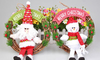 Lovely Santa Claus Christmas Decorative Snowman cartoon christmas toy ornaments