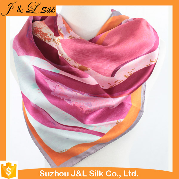 Factory Best Price Multi- Color Silk Satin Scarf