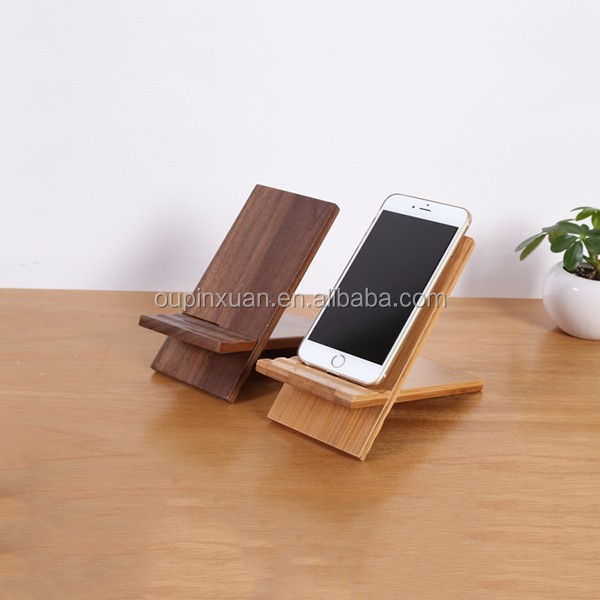 Totally natural and high-quality home accessories, desk phone accessory removable bamboo mobile phone holder