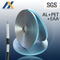 Laminated aluminum polyester foil for cable shield AL/PET/EAA