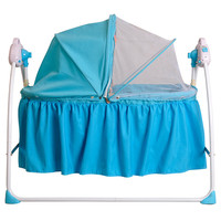 Electric Foldable baby Crib Rocking Bed ,swing baby bed with remote control and mosquito net