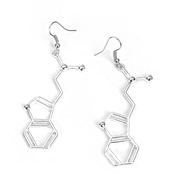New 2017 Latest DMT Molecule Chemistry Science Charm Earring Designs