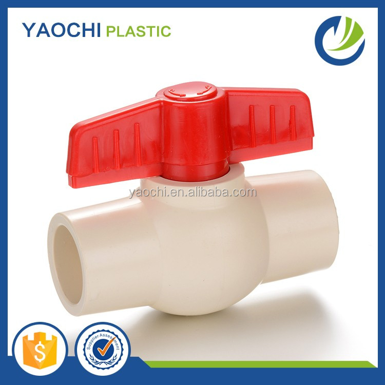 Wholesales ASTM 2846 Plastic CPVC Pipe Fittings CPVC Ball Water Valve