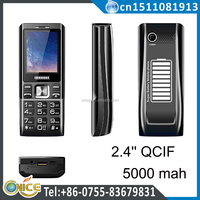 K3000 mobile phones with strong 5000mah battery 2.4 inch dual sim cards heavy battery mobile phones