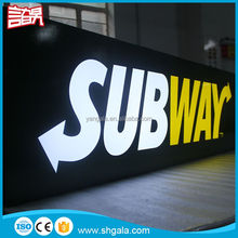 Wholesale Cheap Aluminium outdoor advertising led round light box