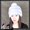 CX-C-58C New Products Handknitted Rex Rabbit Fur Cap And Hat