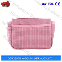 Portable ladies travel bags plain canvas cosmetic bag make-up bag