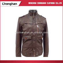 Chonghan 2017 Indian Mens Clothing Lightweight Motorcycle Leather Jackets