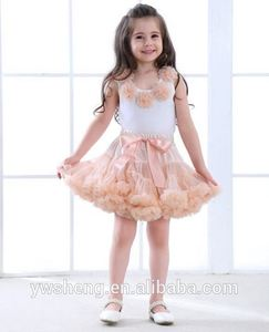 2017 baby outfits children's two pieces clothing sets girl's tops and pettiskirt sets
